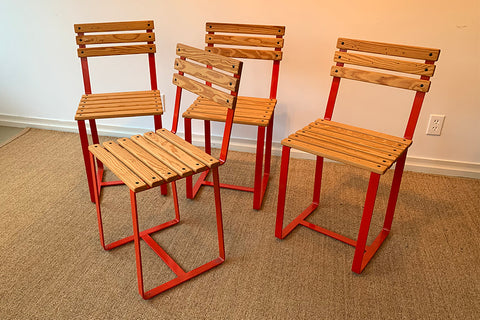 Factory Outlet: SplashUps Slatted Cafe Chair (TWO)