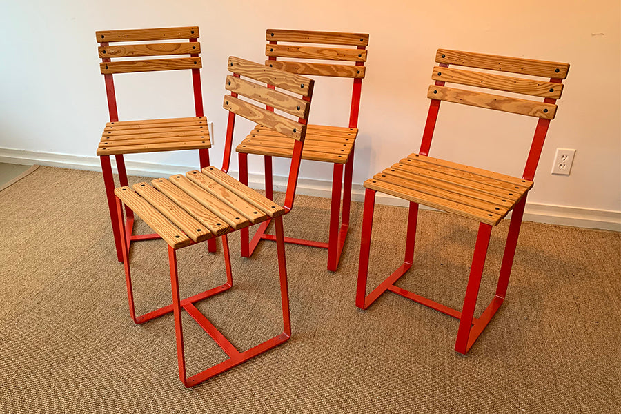 Factory Outlet: SplashUps Slatted Cafe Chair (FOUR)