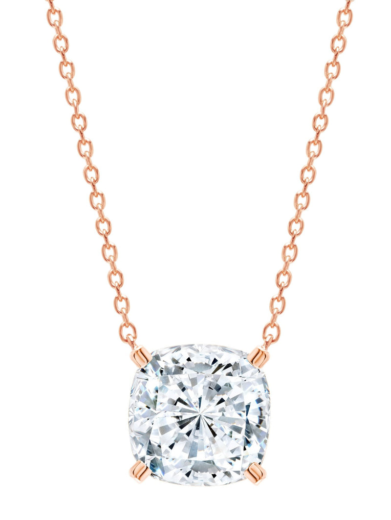 Rose Gold Bliss Cushion Cut cubic zirconia Necklace