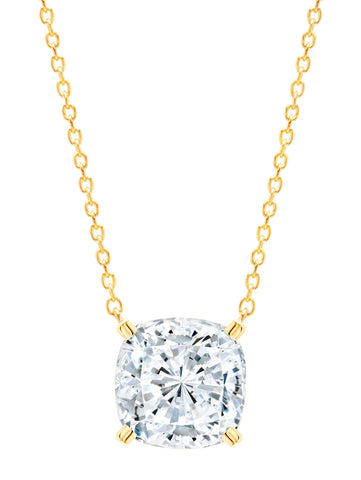 Gold Bliss Cushion Cut cubic zirconia Necklace