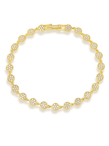 Infinity Tennis Bracelet Finished in 18kt Yellow Gold