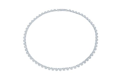Infinity Tennis Necklace finished in Pure Platinum