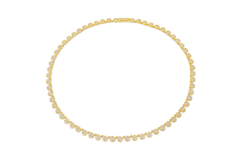 Infinity Tennis Necklace finished in 18kt Gold