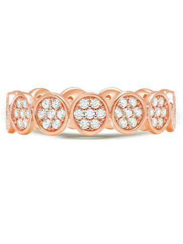 Infinity Eternity Band finished in 18kt Rose Gold