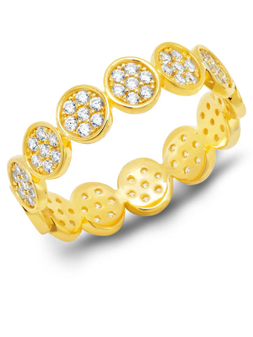 Infinity Eternity Band Finished in 18kt Yellow Gold