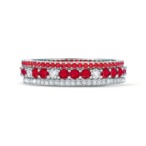Ruby and Clear Stunning Stacks Set