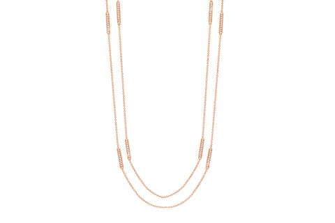 Glow DBY Necklace Finished in 18KT Rose Gold