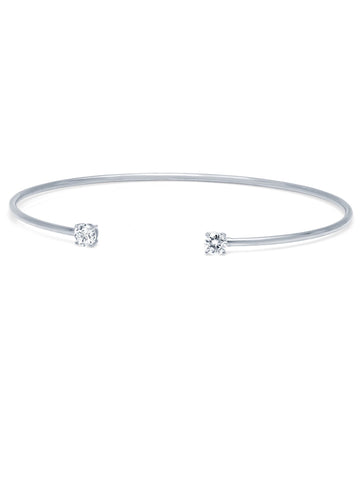 Pure platinum Eclipse Bangle - 4 mm stones