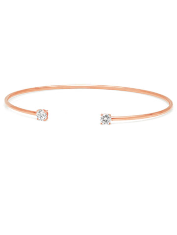 Rose Gold Eclipse Bangle - 4 mm stones