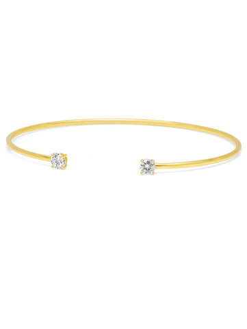 Gold Eclipse Bangle - 4 mm stones