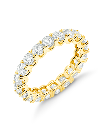 Small Round Cut Eternity Band Finished in 18kt Yellow Gold