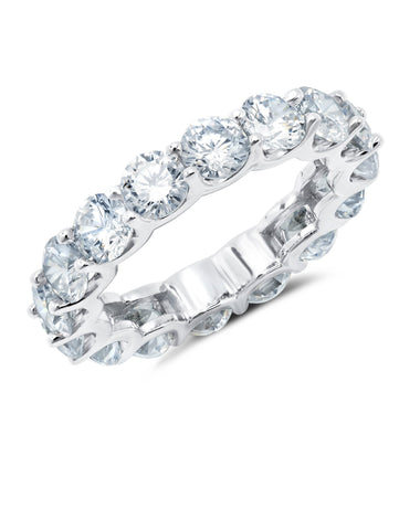Large Round Cut Eternity Band
