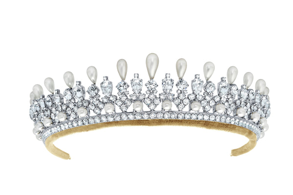 Andrew Prince by Crislu Pearl and Crystal Pear Tiara