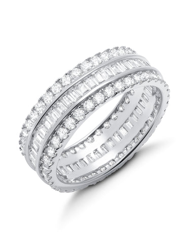 Parallel- Small Platinum Baguette Eternity Ring