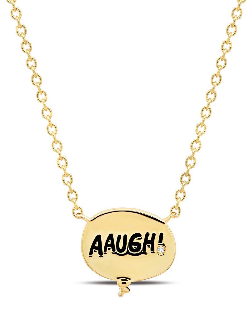 Charlie Brown Thought Balloon Necklace in 18kt Yellow Gold