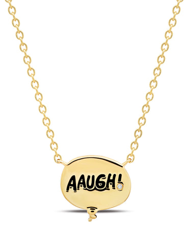 AAUGH! Thought Balloon Necklace