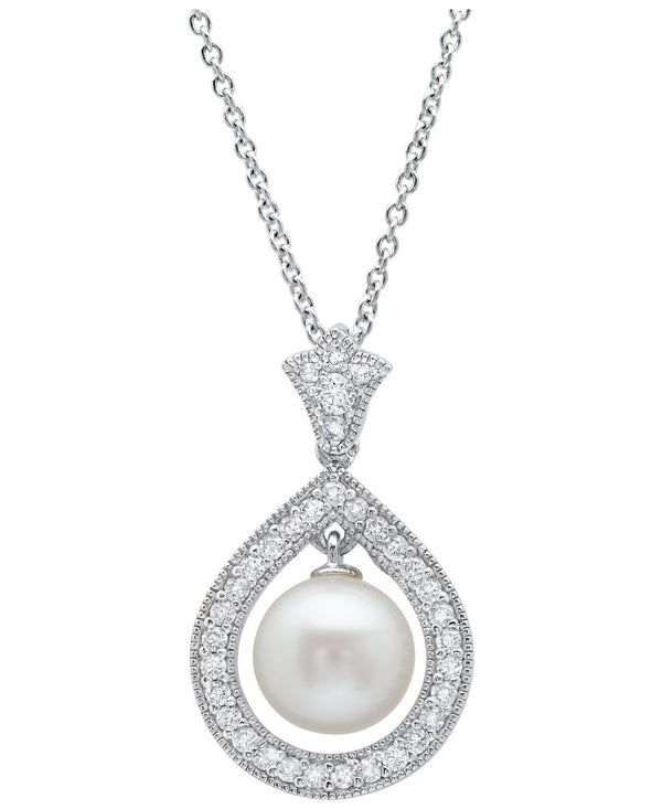 Andrew Prince by Crislu Pearl Cluster Drop Necklace
