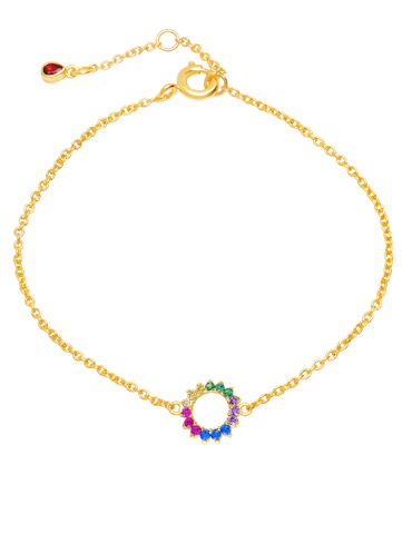 C by CRISLU - Multicolor Small Circle Bracelet