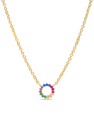 C by CRISLU - Multicolor Small Circle Necklace