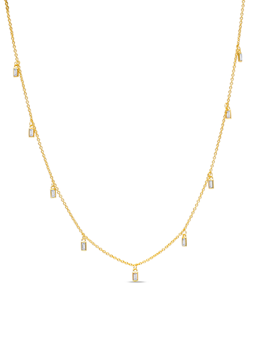 C by CRISLU - Baguette Drop Necklace
