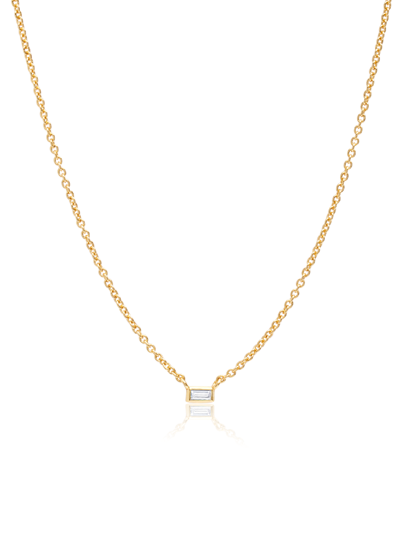 C by CRISLU - Single Baguette Necklace