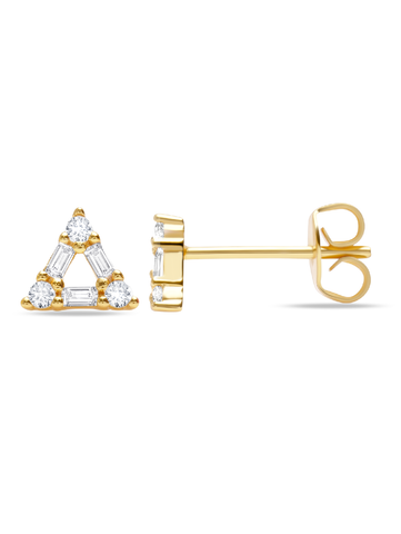 C by CRISLU - Open Triangle Studs
