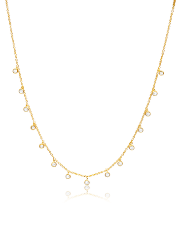 C by CRISLU - Bezel Charm Necklace