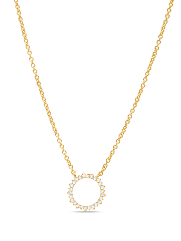 C by CRISLU - Large Pave Circle Necklace
