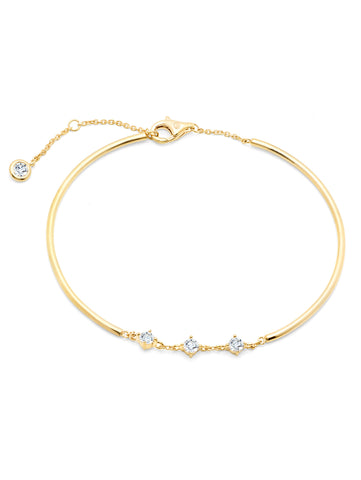Brilliant Accented Bracelet Finished in 18KT Gold