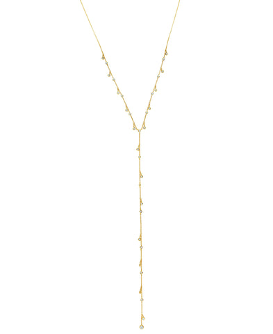 Adustable Y-Necklace Finished in 18kt Gold
