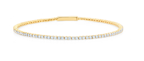 Flex Tennis Bracelet Finished in 18KT Gold