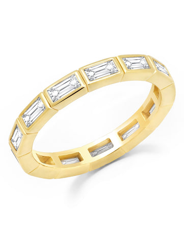 Prism II Eternity Band Finished in 18kt Yellow Gold