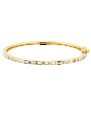 A Prism II Cubic Zirconia Bracelet Bangle Finished in 18kt Gold from CRISLU.
