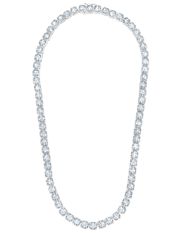 Opulence Tennis Necklace in Platinum