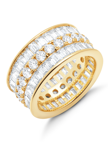 Parallel- 18kt Gold Baguette Eternity Ring
