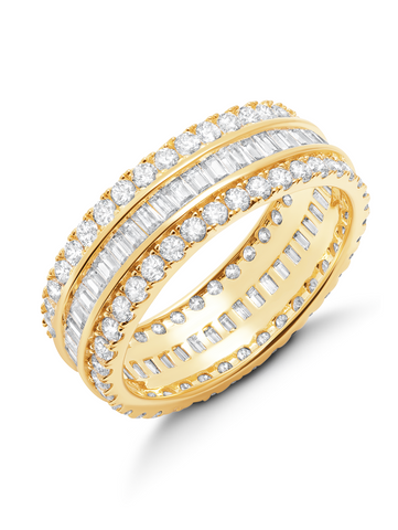 Parallel- Small 18kt Gold Baguette Eternity Ring