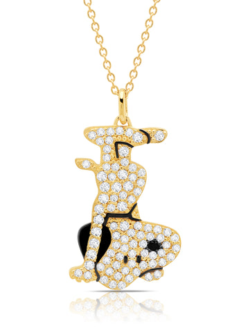 Snoopy Headstand Pave Necklace