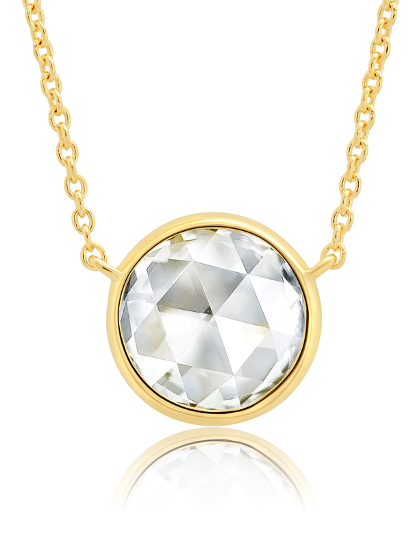 "Classic Rosecut Brilliant 16""+2"" Adjustable Necklace  In 18kt Yellow Gold"
