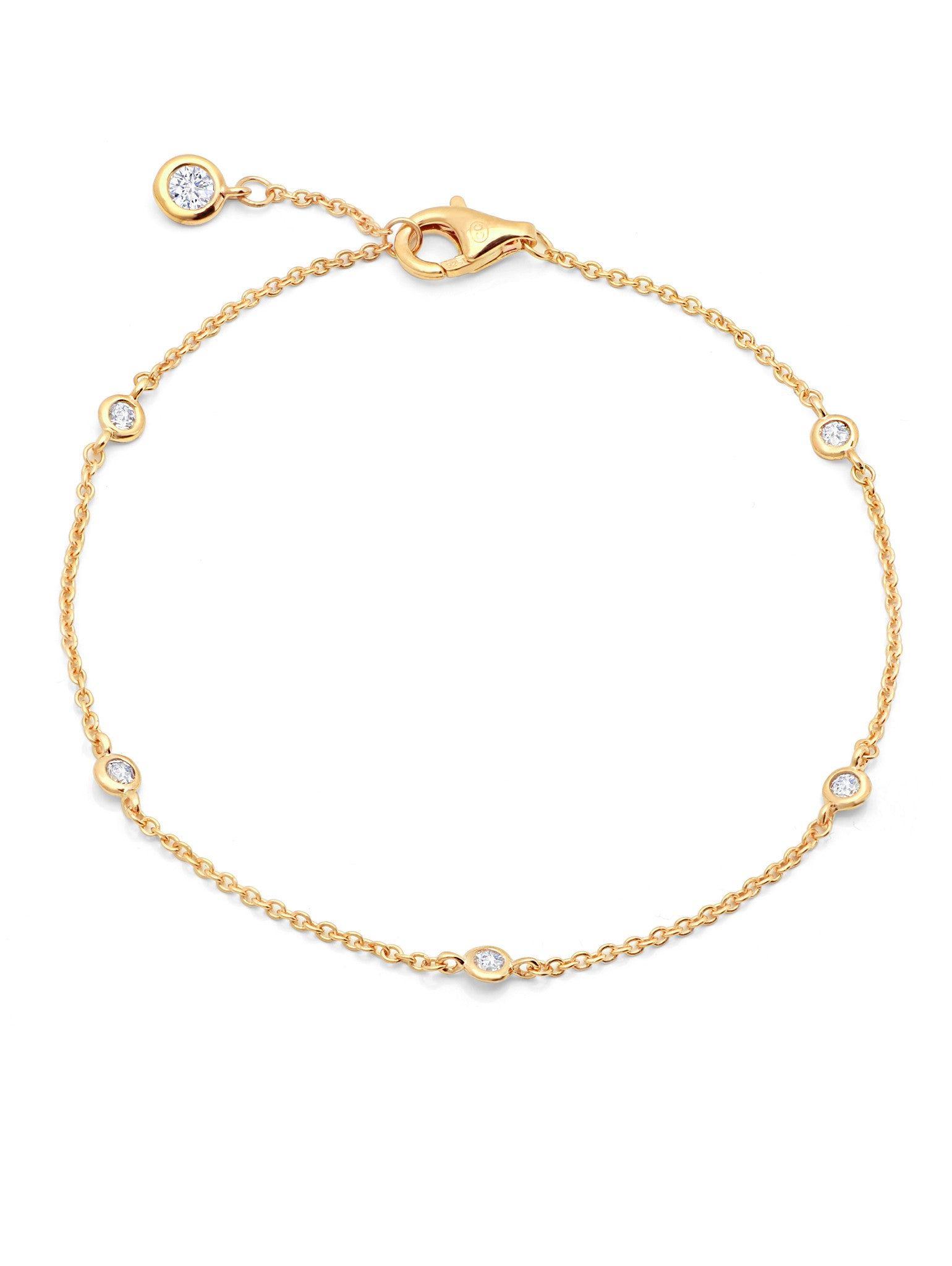 jewelry vermeil anklet sweetie women of s in gold links metallic xs lyst bracelet london