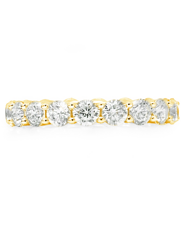 Brilliant Round Cut Eternity Band - 3.75 mm - Finished in 18kt Yellow Gold