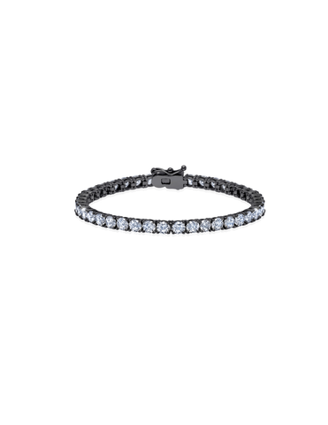 Mens Brilliant Cut Tennis Bracelet Finished in Black Rhodium