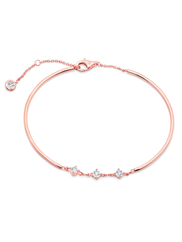 Brilliant Accented Bracelet Finished in 18kt Rose Gold