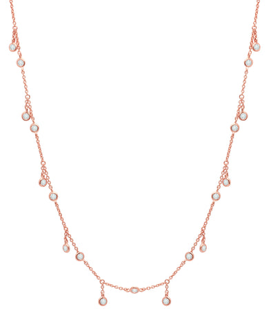 Adjustable Necklace Finished in 18kt Rose Gold