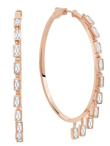 Prism II Hoop Earrings finished in 18kt Rose Gold