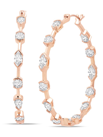 Lavish Cubic Zirconia Hoop Earrings finished in 18kt  from CRISLU.