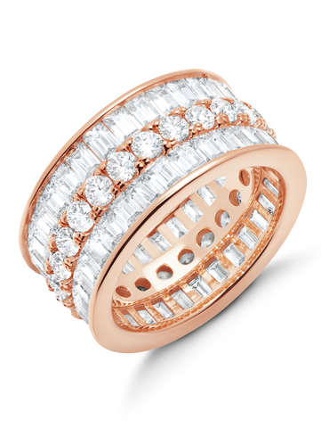 Parallel- 18k Rose Gold Baguette Eternity Ring