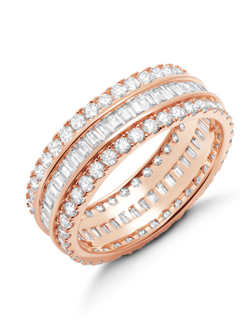 Parallel- Small 18k Rose Gold Baguette Eternity Ring