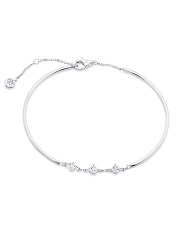 Brilliant Accented Bracelet Finished in Pure Platinum