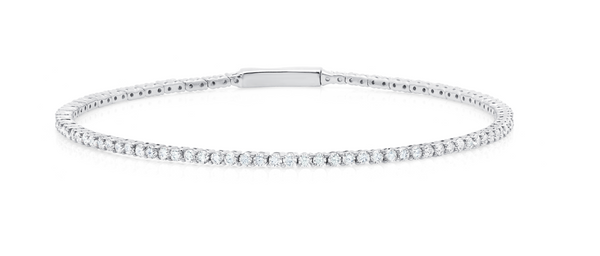 Pure platinum Flex Tennis Bracelet