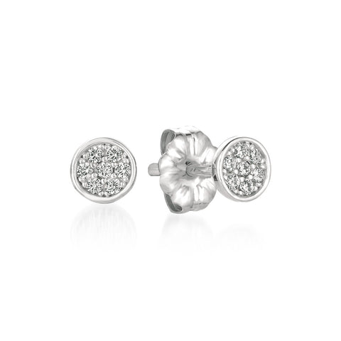 Sugar Drop Stud Earrings Finished in Pure Platinum